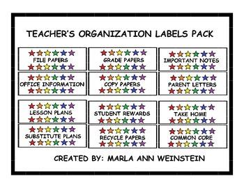 TEACHER'S ORGANIZATION LABELS PACK