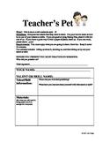 TEACHER'S PET WRITING/PRESENTING ACTIVITY: letting the stu