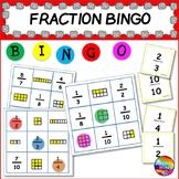 TEACHING FRACTIONS Printable Maths Center Game FRACTION BINGO Activity
