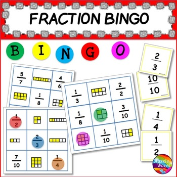 FRACTION BINGO Game for Math Activity