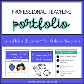 Teaching portfolio template by the early bird teacher tpt teaching portfolio template maxwellsz