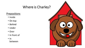 TEACHING PREPOSITIONS FOR CHILDREN WITH AUTISM WITH CHARLEY THE DOG