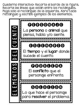 TEACHING STORY ELEMENTS - IN SPANISH
