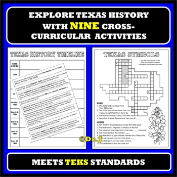 TEACHING TEXAS Activity Pack for Grades 3-5