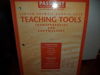 TEACHING TOOLS  ISBN30-669-44074-4