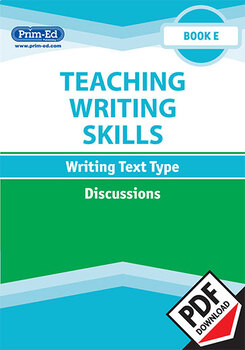 TEACHING WRITING SKILLS: DISCUSSIONS: BOOK E EBOOK UNIT (Y5/P6)