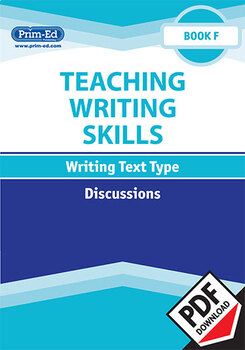 TEACHING WRITING SKILLS DISCUSSIONS: BOOK F EBOOK UNIT (Y6/P7)
