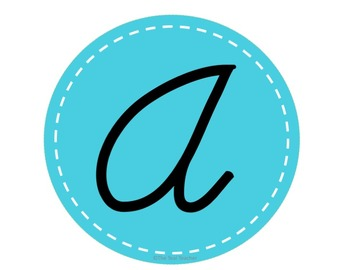 TEAL- Cursive Alphabet Wall Letters