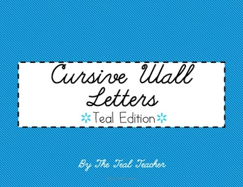 TEAL- Cursive Alphabet Wall Letters