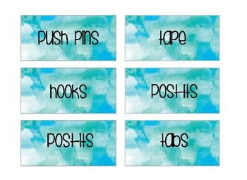 TEAL TOOLBOX Labels- 4 Options