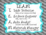 T.E.A.M. ~ Cooperative Group Job Descriptions {Black Dots}