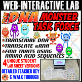 TEAM DNA: Monster Task Force INTERACTIVE LAB ~ Transcription & Translation~