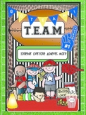 TEAM Data Binder or Assignment Notebook Cover