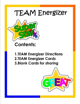 Beginning of the Year TEAM Energizer