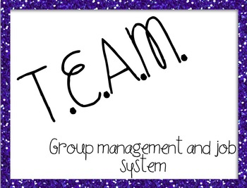 TEAM Group Management and Group Jobs Posters