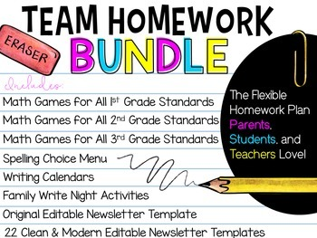 TEAM Homework BUNDLE