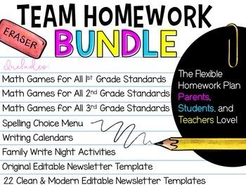TEAM Homework BUNDLE