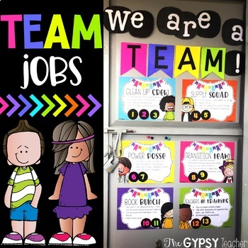 TEAM JOBS - Promoting Teamwork and Classroom Ownership!