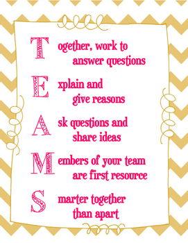 TEAM Norms Poster