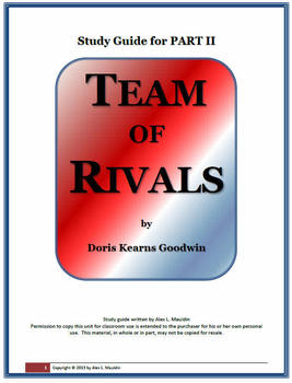 TEAM OF RIVALS Study Guide Part 2