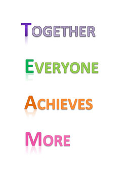 TEAM Poster - Together Everyone Achieves More