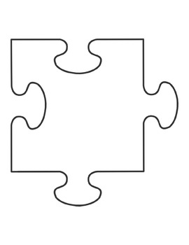 photo about Printable Puzzles Pieces named Blank Puzzle Elements Worksheets Training Products TpT
