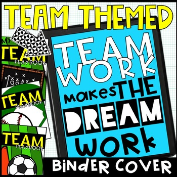 TEAM Sports themed binder covers