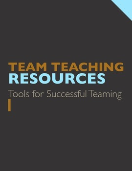 TEAM TEACHING: Resource, Plan, & Idea Set