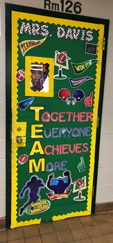 Bulletin Board TEAM printable word