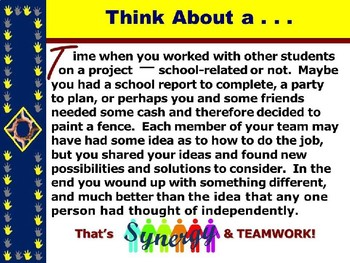 "TEAMWORK IN SCHOOL & WORKPLACE PPT - ""Tips for Forming Successful Teams"""