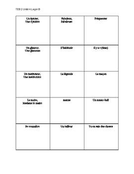 TEB 2 Unité 4 Leçon B_ Vocabulaire