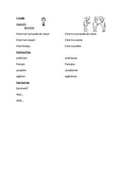 TEB T'es branché? 1 Vocab Lists Unit 1