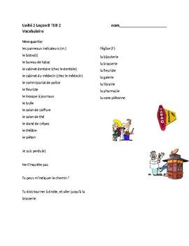 TEB T'es branché? 2 Vocab Lists Unit 2