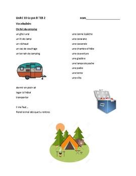TEB T'es branché? 2 Vocab Lists Units 6-10 BUNDLE