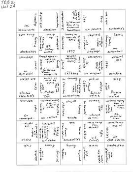TEB T'es branché? 2 Vocab Puzzles Unit 2
