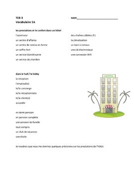 TEB T'es branché? 3 Vocab Lists Units 1-5 Bundle