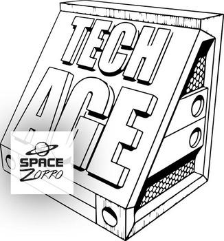 TECH AGE image ( b&w )