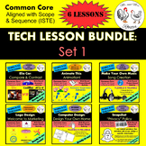 Middle School Technology Lesson Plans BUNDLE: Set 1