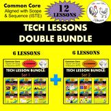 TECH LESSONS DOUBLE BUNDLE {12 Technology Lessons} Middle