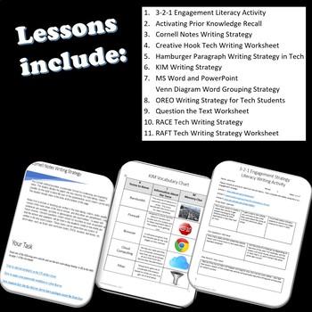 TECH Writing Activities, Strategies & Worksheets Bundle
