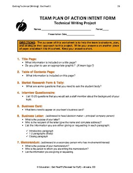 "TECHNICAL WRITING PROJECT (PART 2) ""Student Handouts & Templates"""