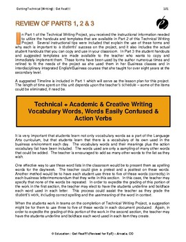 """TECHNICAL WRITING PROJECT (PART 4) """"Vocabulary, Tests & Keys"""""""