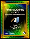 "TECHNICAL WRITING PROJECT (PART 4) ""Vocabulary, Tests & Keys"""