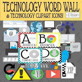 TECHNOLOGY ABC BUNDLE! CLIPART AND WORD WALL!