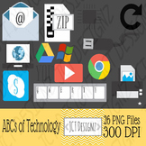 TECHNOLOGY ABC CLIPART: IMAGES ONLY