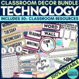 TECHNOLOGY THEME Classroom Decor EDITABLE