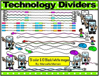 TECHNOLOGY DIVIDERS CLIP ART FOR BLOGS AND WORKSHEETS