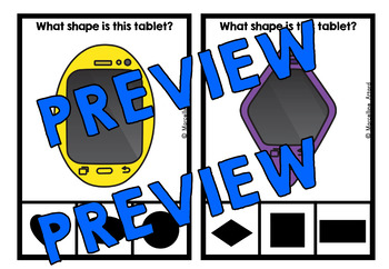 TECHNOLOGY MATH CENTER (TABLET SHAPES CLIP CARDS)