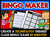 BACK TO SCHOOL EMOJI ACTIVITY (TECHNOLOGY THEME EDITABLE SIGHT WORDS BINGO GAMES