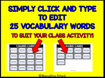 BACK TO SCHOOL EMOJI ACTIVITY (TECHNOLOGY THEME EDITABLE SIGHT WORDS BINGO GAMES